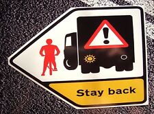 CYCLIST WARNING Sticker  215mm X 115mm  VAN / Truck Scania Volvo Renault DAF bus