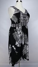 STYLE & Co. WOMEN'S PLUS SIZE BLACK WHITE EMBELLISHED SLEEVELESS DRESS Sz 0X