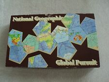 National Geographic Global Pursuit Board Game 1987 Geography