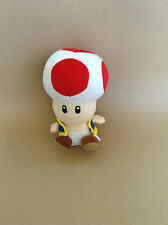 Super Mario Plush Teddy - Toad Soft Toy - Size:17.5cm - NEW
