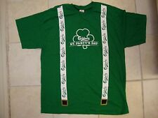 Carlsberg Presents St. Party's Day Suspenders Beer Drinking Patty's T Shirt XL