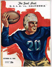 1945 UCLA vs CALIFORNIA  Football Program NCAA
