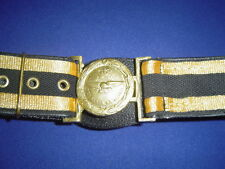 RAF | Royal Air Force Officers Ceremonial Leather Sword Belt | Black Gold | LB27