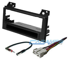 CAR STEREO RADIO DASH INSTALLATION TRIM BEZEL KIT W/ WIRING HARNESS & ANTENNA