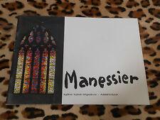 Plaquette - MANESSIER - Vitraux de l'église Saint-Sépulcre, Abbeville - 1994