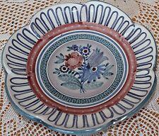 Gmundner Keramik Teller, sehr alt, handgeformt und handgemalt