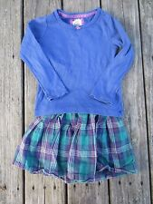 Mini Boden ~ Girls Blue Plaid Skirt Outfit ~ Size 3-4 Y
