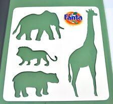 Coca-Cola Fanta Schablone für Elefant Löwe Giraffe Bär - Stencil