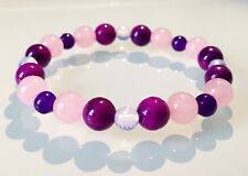 FERTILITY, CONCEPTION, HEALTHY PREGNANCY - CRYSTAL HEALING GEMSTONE BRACELET