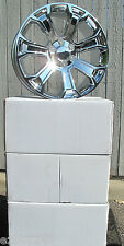 "22"" NEW CHEVROLET SILVERADO TAHOE SUBURBAN FACTORY STYLE CHROME WHEELS RIMS 5660"