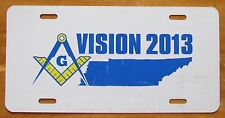 Tennessee VISION 2013 HABITAT FOR HUMANITY MASONIC BOOSTER License Plate