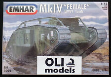 "1/72 WWI British Mark IV (Mk.IV) ""FEMALE"" Tank  - EMHAR 5002"