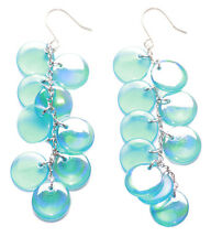 Exquisite Turquoise Grape Style Cells & Metal Dangler Earrings(Zx101 tray)