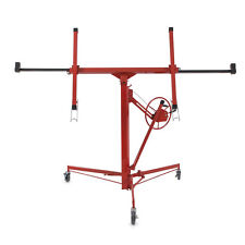 Drywall Lift Panel 11' Hoist Dry Wall Jack Rolling Caster Lockable Lifter Red HD