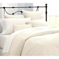 OFF CREAM HOTEL QUALITY EGYPTIAN COTTON PERCALE 400 T/C KING SIZE BED DUVET SET