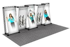 PORTABLE TRADE SHOW TRUSS DISPLAY BOOTH CUSTOM 10' x 20' CROSSWIRE EXHIBIT