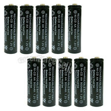 10x AA 900mAh Ni-Cd NICD Ni-Cad 1.2V rechargeable battery cell/RC Black US Stock