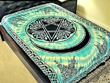 """72"""" x 108"""" Wall Hanging Tapestry - Cotton throw - Pentacle With Moon - Free Ship"""