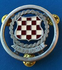 Special forces beret badge, CROATIA ARMY HVO , VIRIBUS UNITIS, rarre badge !!!