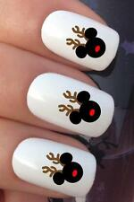 CHRISTMAS NAIL ART SET #770 MICKEY MOUSE RUPOLPH WATER TRANSFERS DECALS STICKERS