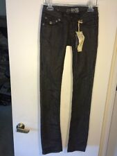 NWT LAGUNA BEACH JEAN CO. BLACK WASH STRAIGHT LEG HAND STITCHED JEANS Size 23