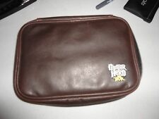 Brown Fake Leather Guitar Hero Theme Zipper Nintendo DS, 3DS, DSi Carry Case