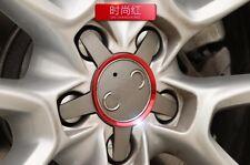 4PCS AUTO ACCESSORIES Red Aluminum Car Wheel Rim Cap DECORATIVE Ring For Audi