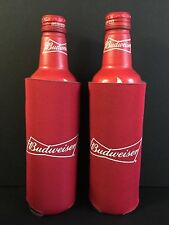 Budweiser Beer Koozie Fits 16 oz Aluminum Can Classic Logo Two (2) NEW & FShip