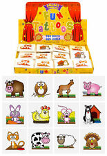 72 Farm Temporary Tattoos (6 Bags Of 12) - Pinata Animal Loot/Party Bag Fillers