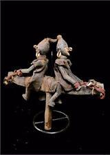 Fine Tribal Bambara Marionette 2 Horse Rider Figure   -- Mali  BN 18