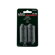 NEW KATO UNITRACK 20-040 STRAIGHT TRACK 62MM S62 4 PCS