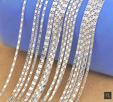5PCS 16 inch 925 Sterling silver plating SMOOTH Chain Necklaces Wholesale