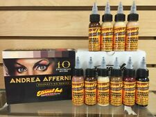 "Eternal Tattoo Ink ""Andrea Afferni"" 10 Color Portrait Set 1 Ounce Free Shipping"