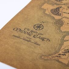 Vintage Middle Earth Map On The Lord of The Rings Poster Home Decor Wall Vintage