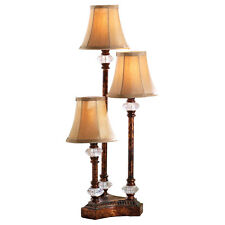 Traditional Candlestick Table Trio Lamp, by Collections Etc