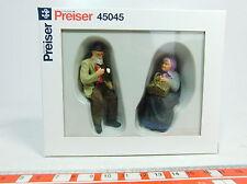 AX565-0,5# Preiser Spur 2/II/G (1:22,5) 45045 Figuren-Set Bauer+Bäuerin NEUW+OVP
