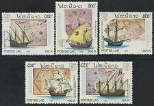 LAOS N°1046/1050** bateaux, voiliers 1992,  sailing ship Sc#1085-1089 MNH