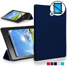 Blue Smart Case Cover Shell for Acer Iconia One 7 B1-780 Screen Prot & Stylus