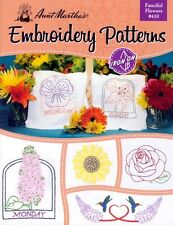Fanciful Flowers Embroidery Patterns - Floral Designs for Embroidery / Applique