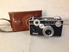 VINTAGE ARGUS 50MM C3 RANGEFINDER FILM CAMERA AND ORIGINAL LEATHER CARY CASE