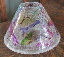 YANKEE CANDLE CRACKLE GLASS SHADE TOPPER, 2012 SPRING, SUMMER BUTTERFLIES
