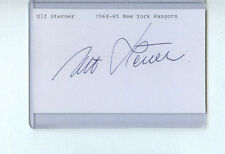 ULF STERNER SIGNED 3x5 INDEX CARD AUTOGRAPH NY RANGERS 1964-65 1ST SWEDE IN NHL