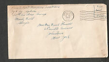 WWII cover Private Robert Thompson 58th Air Base Group Moody Field GA Valdosta