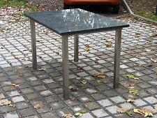 Gartentisch Esstisch wetterfest mit Natursteinplatte + Stahlgestell verzinkt