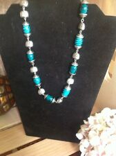 Retired Premier Design Silver And Green Class Accent Necklace