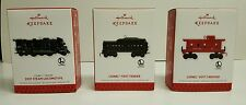 2013 Hallmark Lionel 2037 Steam Locomotive Tender Caboose Set of 3 Ornament New