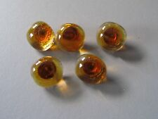 Small amber glass button