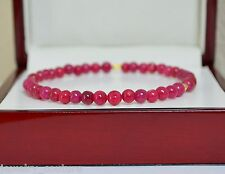 NATURAL RUBY Gemstone Bangle Bracelet 14K Yellow Gold Handcrafted