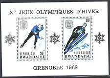 RWANDA - RUANDA - BF - 1967 - 10° Giochi olimpici d'inverno, a Grenoble