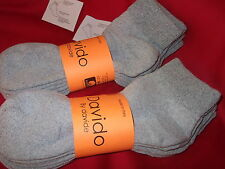 Mens socks diabetic ankle /quarter 100% cotton made in Italy 6 pairs gray 9-11